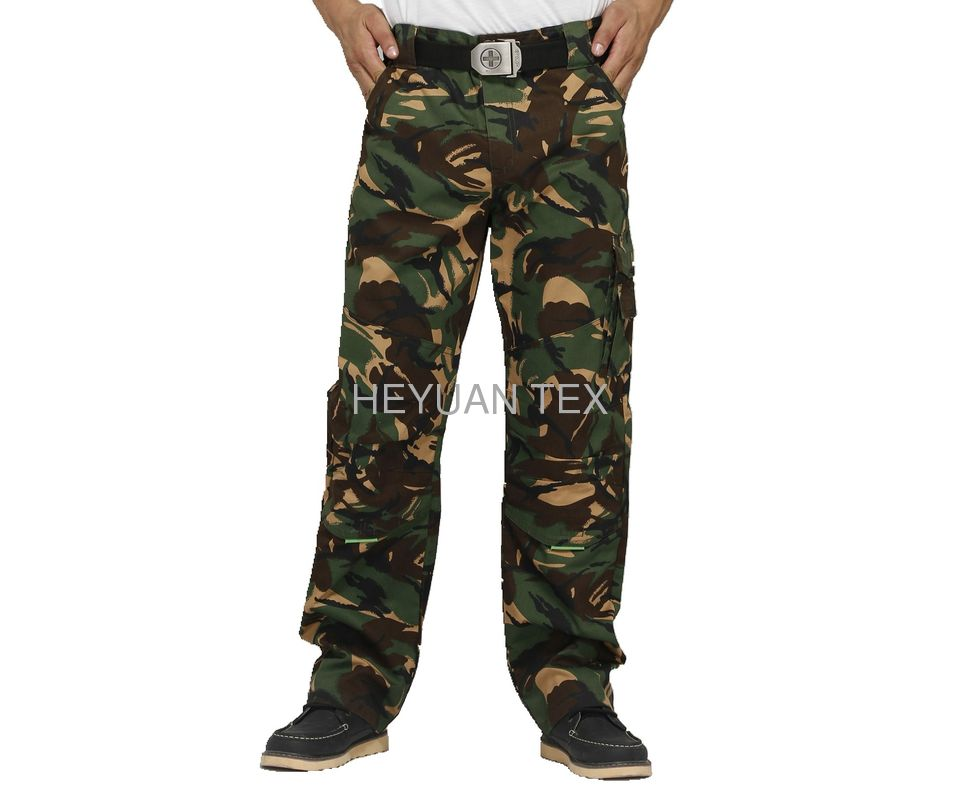 Camouflage Printing Work Uniform Pants Anti Tear With Two Knee Pockets
