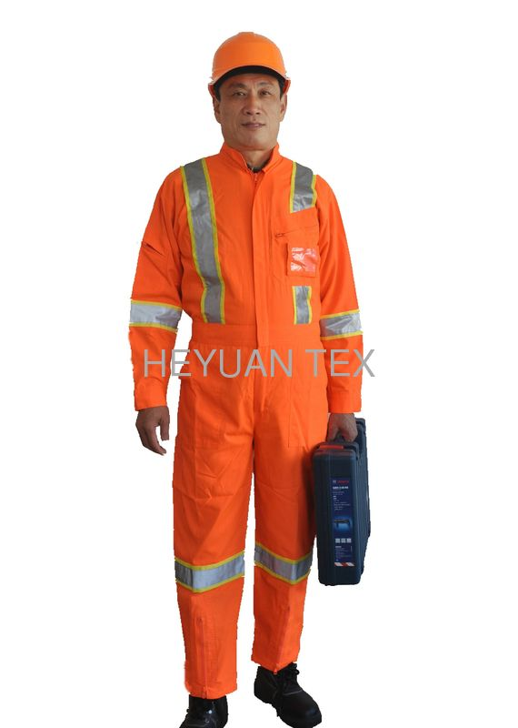 Reflective High Visibility Coveralls / Hi Vis Workwear With Clear ID Pocket